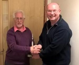 Stan receiving Charters Trophy